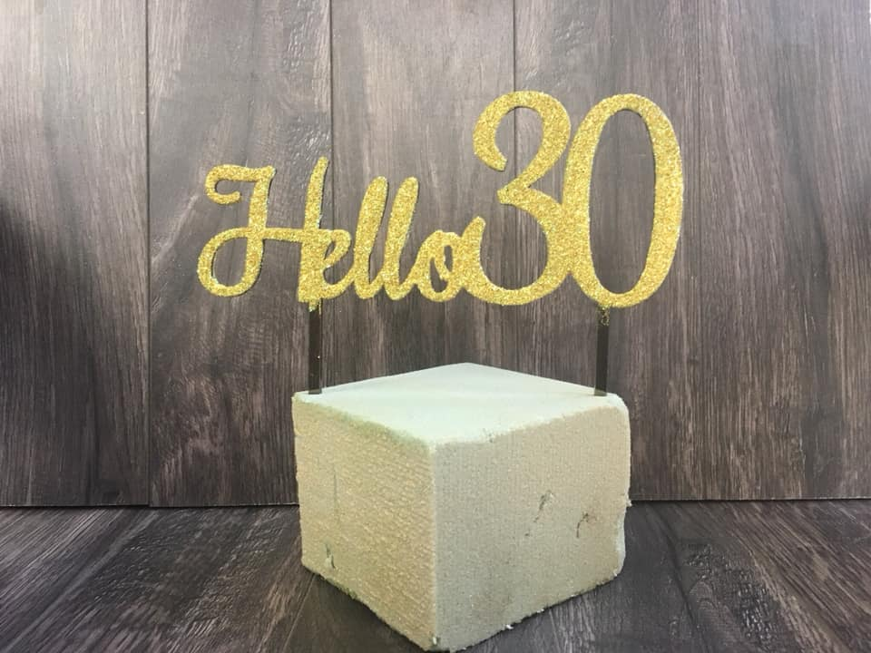 30 cake toper