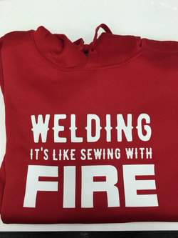 welding like fire