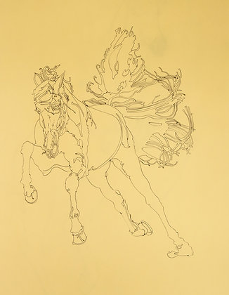 'Untitled' drawing of sprinting horse