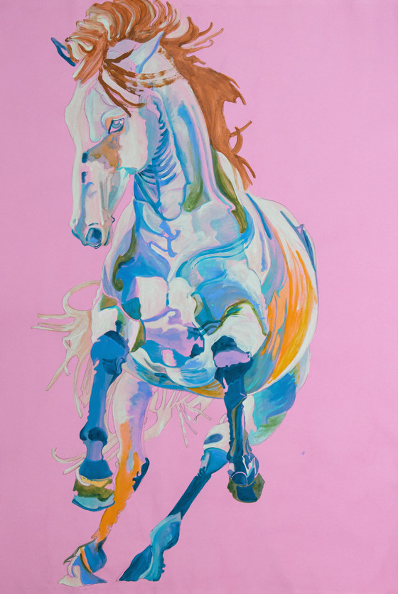 'Untitled' Horse Study in Pink