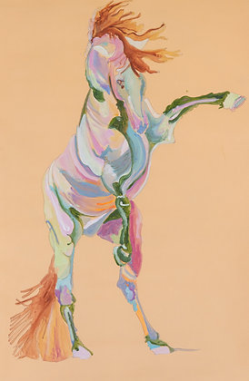 Rearing Horse Study in Peach