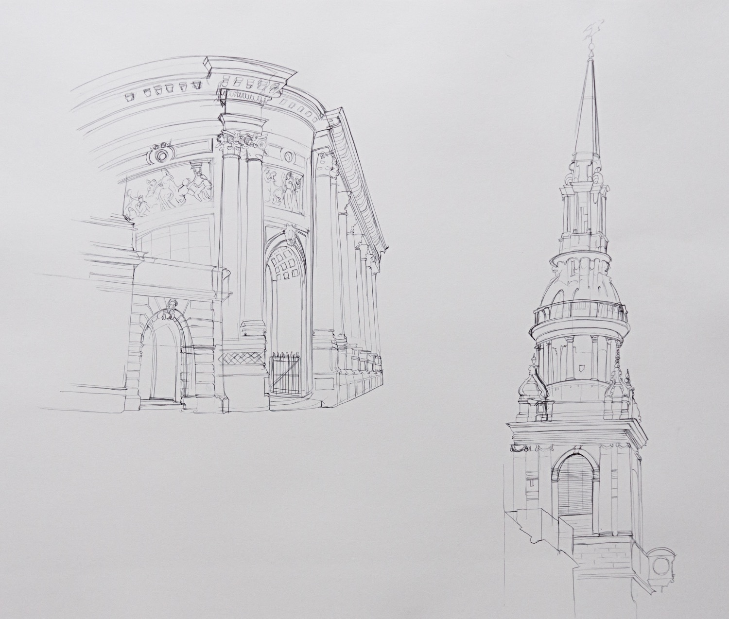 London Architecture Drawings