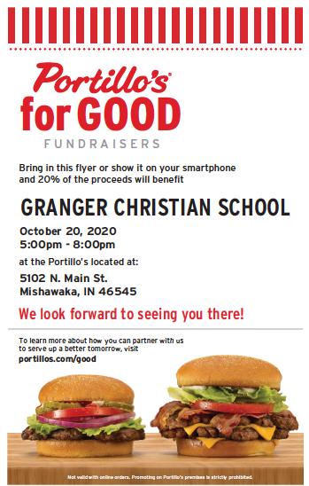 Portillo's fundraiser October 20, 2020