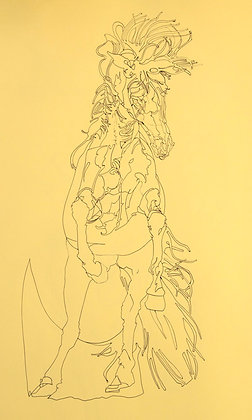 'Untitled' rearing horse