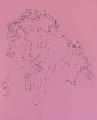 'Untitled' Drawing on Pink