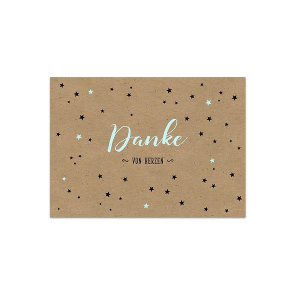 "Dankeskarte Einzelkarte ""Sterne Martin"""