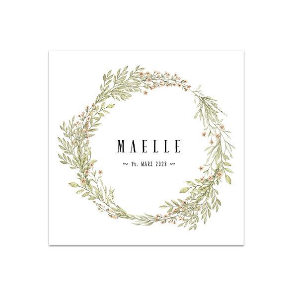 """Geburtskarte Einzelkarte """"Floral Maelle"""""""