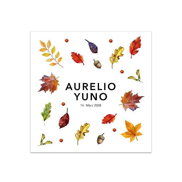 """Geburtskarte Einzelkarte """"Herbst Aurelio"""""""
