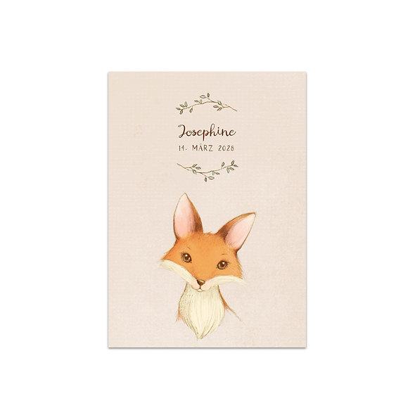 """Geburtskarte Einzelkarte """"Vintage Forest Josephine"""""""