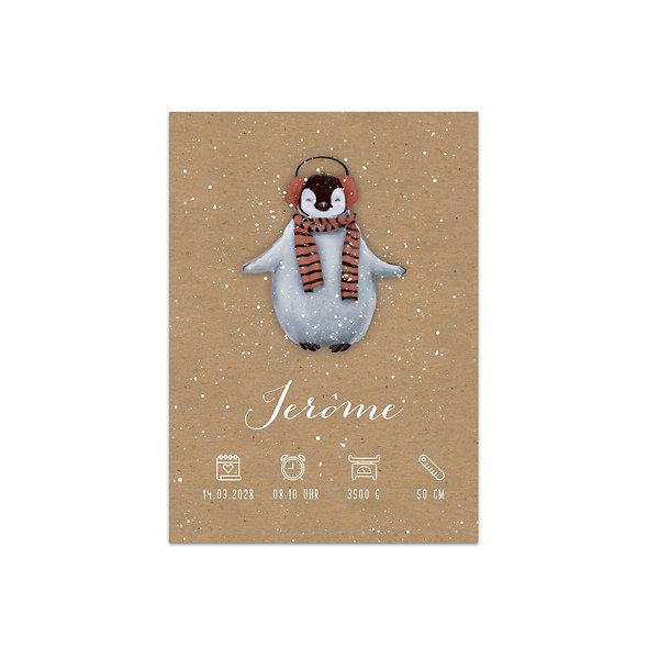 "Geburtskarte Einzelkarte ""Winterfreude Jerôme"""
