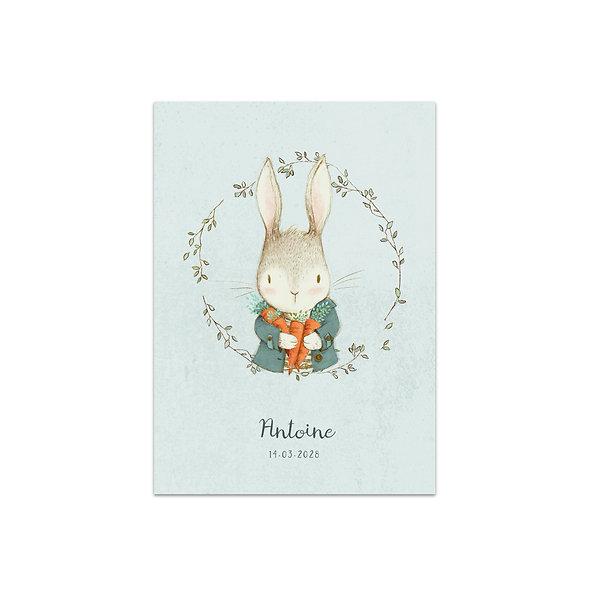 """Geburtskarte Einzelkarte """"Vintage Forest Antoine"""""""
