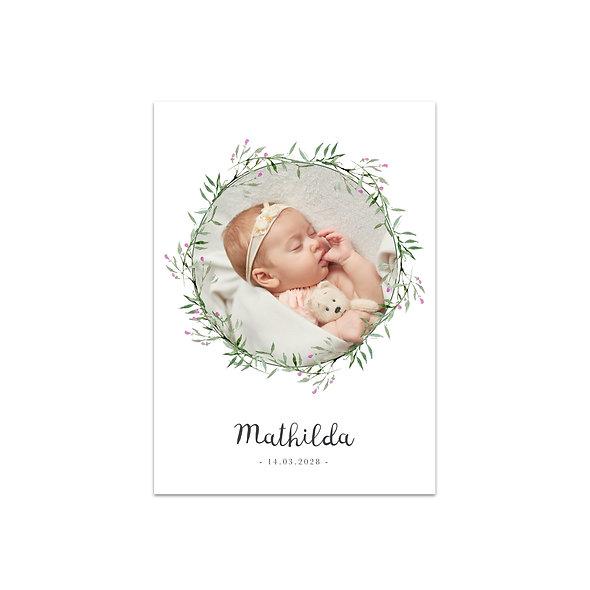 """Geburtskarte Einzelkarte """"Kranz Matilda"""""""
