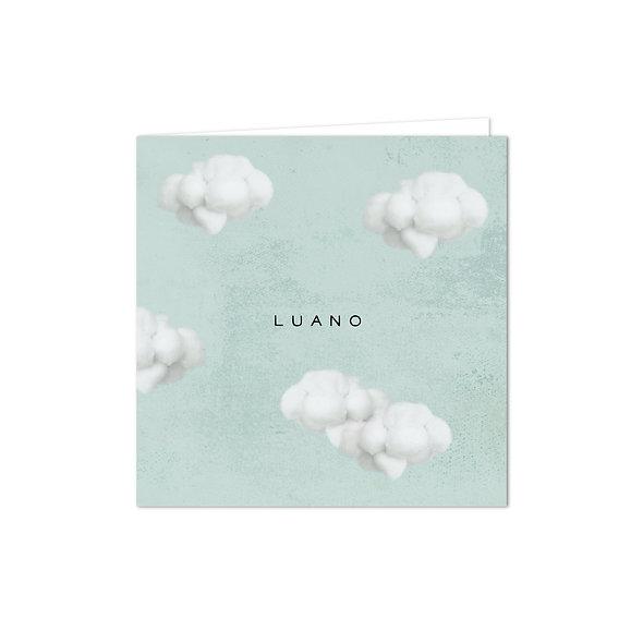 """Geburtskarte Falzkarte """"Wolken Luano"""""""