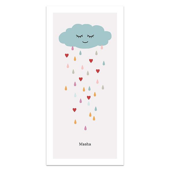 """Geburtskarte Einzelkarte """"lachende Wolke Masha"""""""