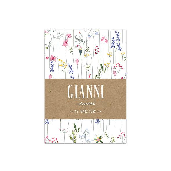 "Geburtskarte Einzelkarte ""Botanical Gianni"""