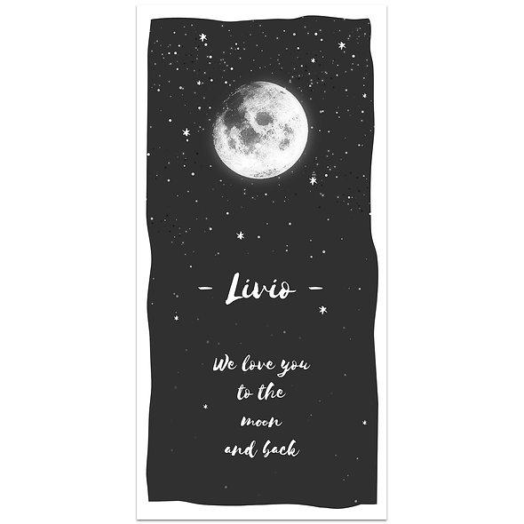 """Geburtskarte Einzelkarte """"Moonlove Livio"""""""