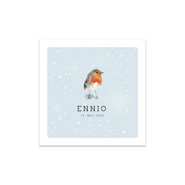 """Geburtskarte Einzelkarte """"Winter Ennio"""""""