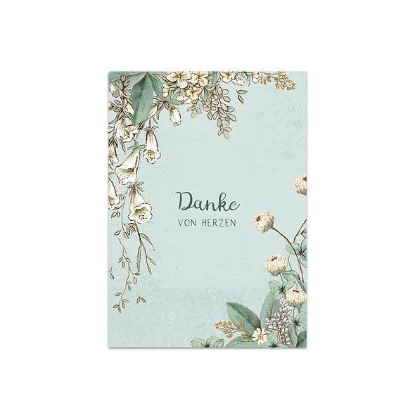 """Dankeskarte Einzelkarte """"Vintage Forest Lucille"""""""