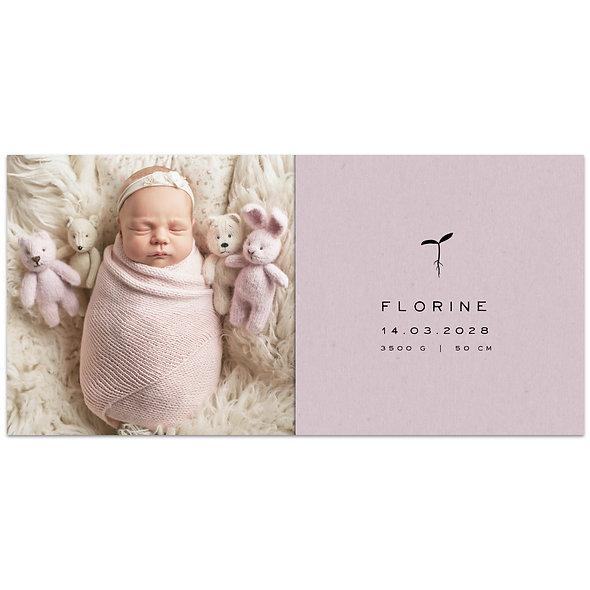 """Geburtskarte Einzelkarte """"Baum Florine"""""""