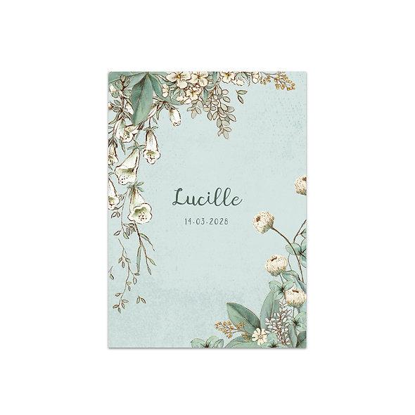 """Geburtskarte Einzelkarte """"Vintage Forest Lucille"""""""