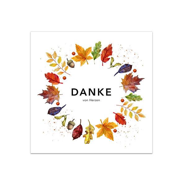 "Dankeskarte Einzelkarte ""Herbstkranz Aurelia"""