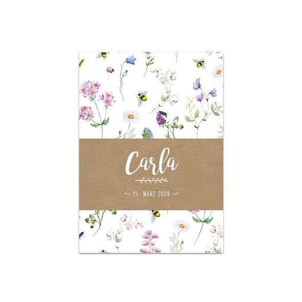 "Geburtskarte Einzelkarte ""Botanical Carla"""