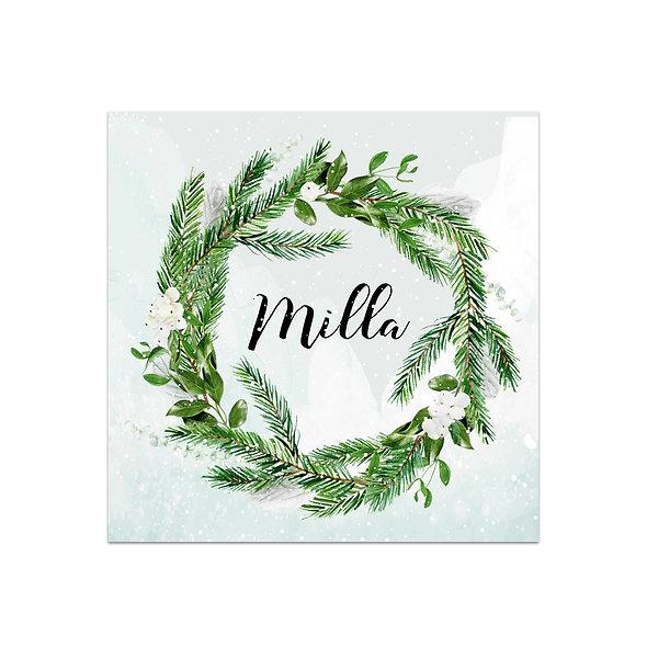 """Geburtskarte Einzelkarte """"Winterkranz Milla"""""""