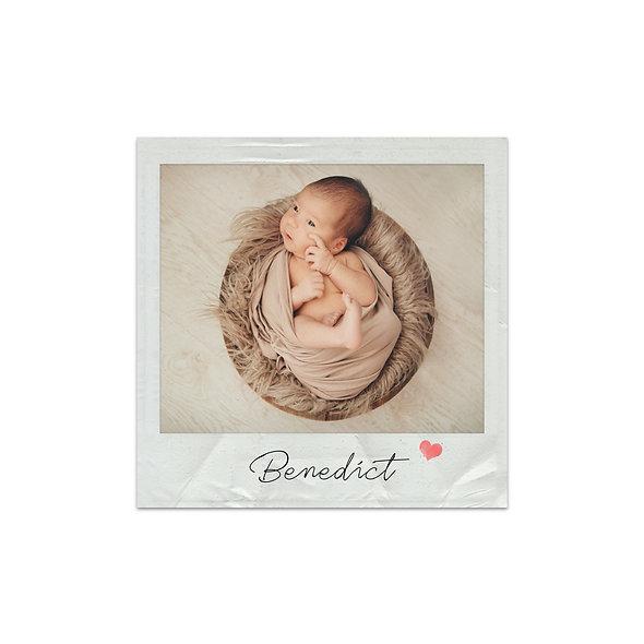 "Geburtskarte Einzelkarte ""Polaroid Benedict"""