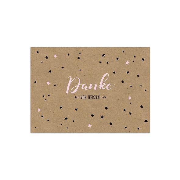 "Dankeskarte Einzelkarte ""Sterne Sarina"""