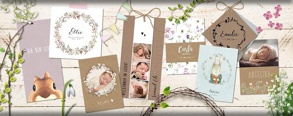 mimi und bob natürliche Geburtskarten St