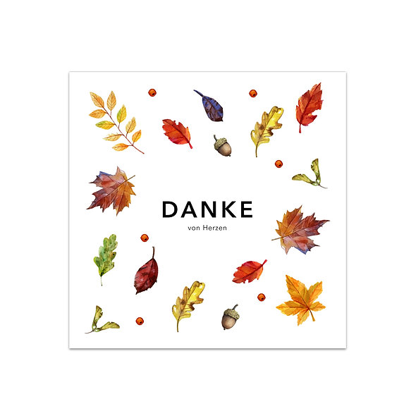"Dankeskarte Einzelkarte ""Herbst Aurelio"""