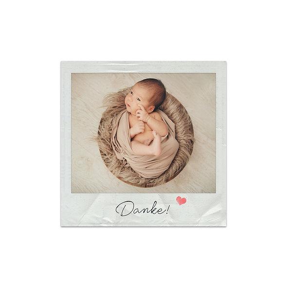 """Dankeskarte Einzelkarte """"Polaroid Benedict"""""""