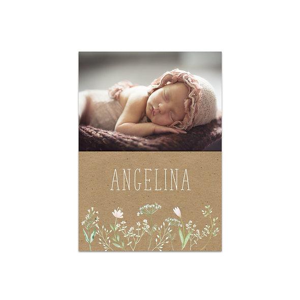 """Geburtskarte Einzelkarte """"Angelina"""""""