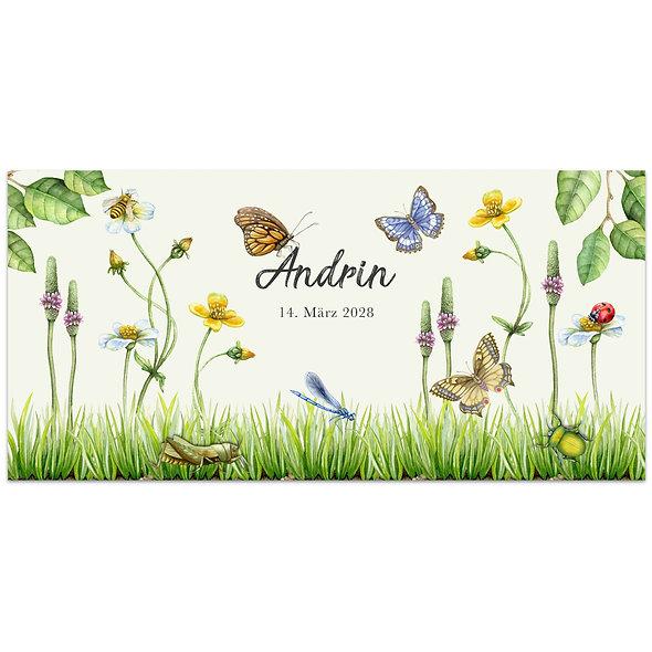 "Geburtskarte Einzelkarte ""Wiesenzauber Andrin"""