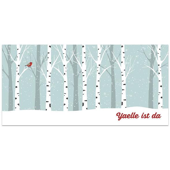"""Geburtskarte Einzelkarte """"Winterwald Yaelle"""""""
