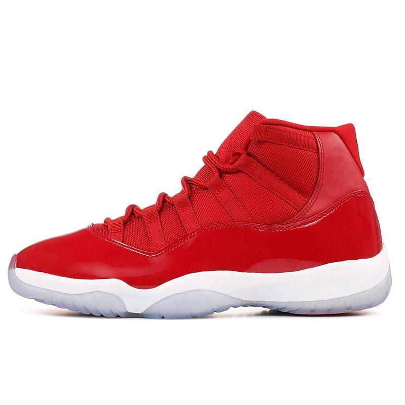 All red 11s   sneakks