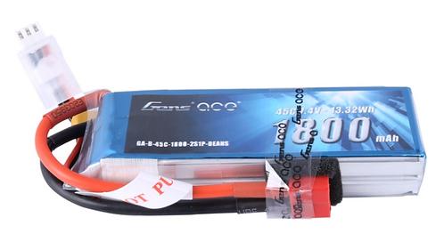 GensAce 2S 7.4 volt 1800mAh 45C Li-Po Battery