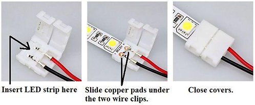 Solderless LED Strip Connector