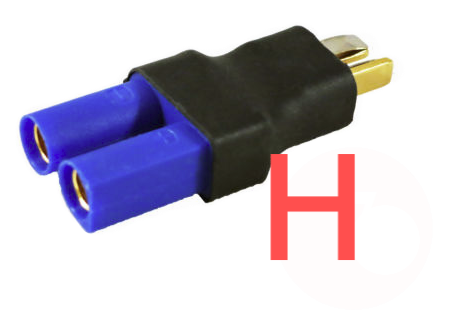 Deans Male to EC5 Female Adapter