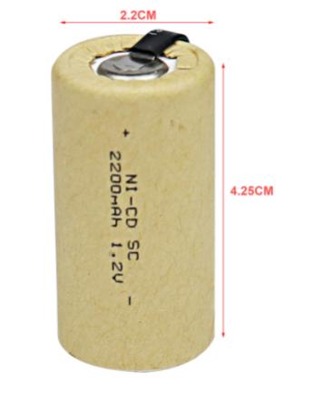 1.2 volt Ni-Cad Sub C Cell