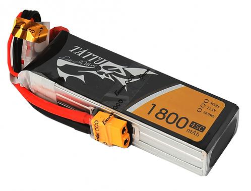 Tattu 3S 11.1 volt 1800mA 65C Li-Po Battery