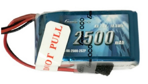 7.4 volt 2S2P 2500mAh Li-Po Rx Battery-GensAce Brand