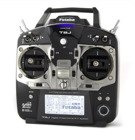Futaba T8J Transmitter-front view