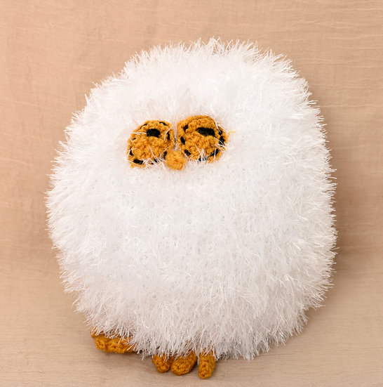Snowy the Owl - Phil's Handknit Toys