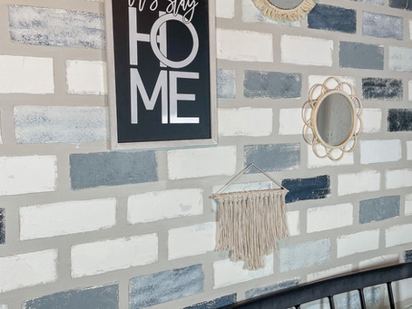Faux Brick Wall Hack: No power tool or paneling edition! Full Review included.