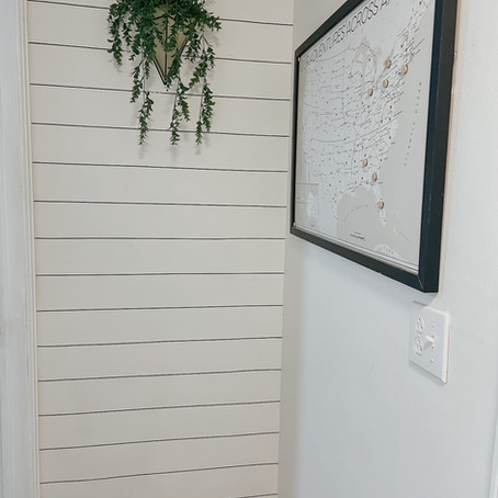 Faux Shiplap Review and HOW TO: Washi Tape