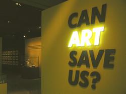 Illuminated exhibition title