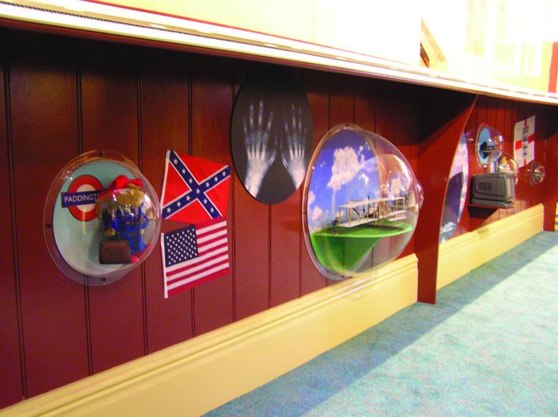 Display domes under timeline