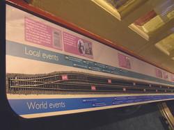 Timeline train track