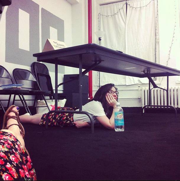 Ali in rehearsaL